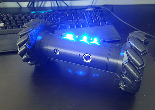 Recon Drone cosplay prop from Six Siege with blue lights