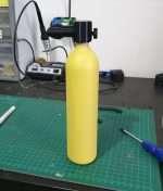 Yellow scuba tank for Wamai