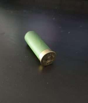 Green shotgun shell